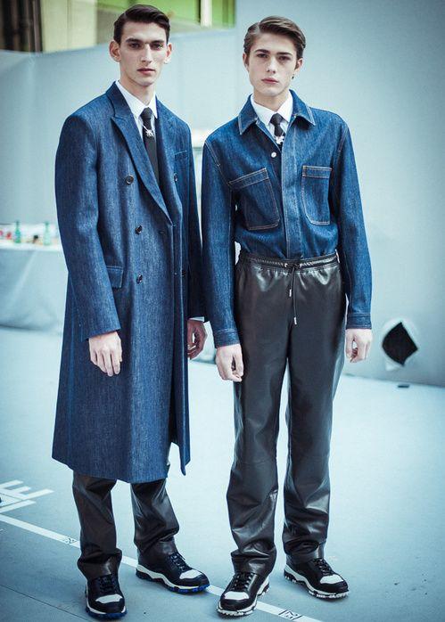 Backstage du défilé Dior Homme automne-hiver 2015-2016
