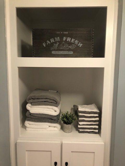 bathroom cabinet build an awkard space turned into spacious rh pinterest com