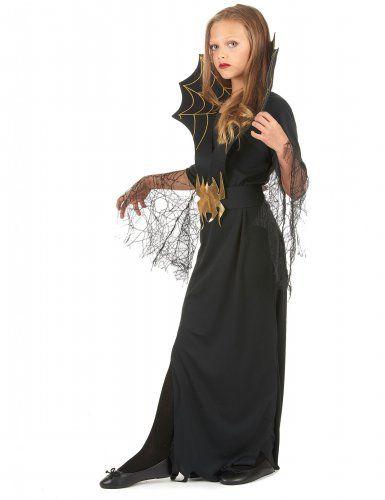 Halloween heksen en spinnen kostuum voor meisjes-1