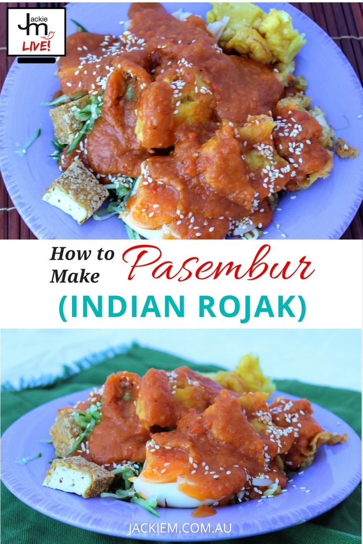 Pasembur (aka mamak or Indian rojak) is a signature Penang salad with a sweet potato-based sauce, that Jackie M used to enjoy a long time ago in her Seremban hometown. Full recipe and replay to Jackie M's Live Asian Kitchen while making this dish now on www.JackieM.com.au