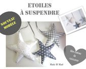 Déco murale : Etoiles tons gris à suspendre pour Noël : Décoration pour enfants par rolli-n-roll