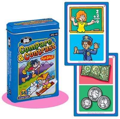 Compare and Contrast Fun Deck Cards  Super Duper Educational Learning Toy for Kids >>> To view further for this item, visit the image link.Note:It is affiliate link to Amazon.