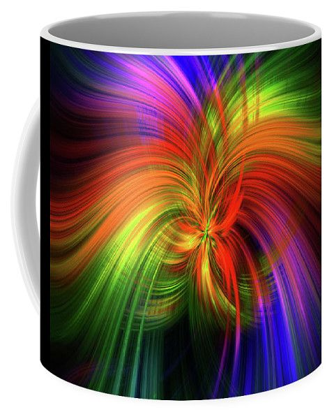 Luminescent Rainbow.  Mystery Of Colors  Coffee Mug by Jenny Rainbow.  Small (11 oz.)