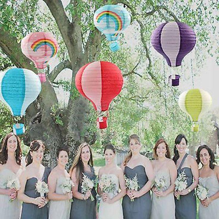 12 '' радуга воздушный шар бумажный фонарь день рождения ну вечеринку свадебный декор цвет купить на AliExpress
