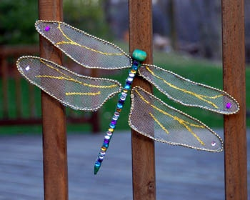 Dragonfly Tutorial-made of window screen