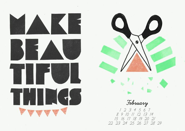 How to be Happy -  Zine Calendar /collection of illustrated quotes to remind you to Celebrate yourself, Yay! / Wunderwuz