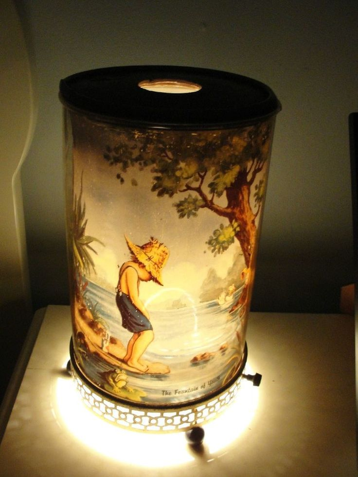 1950 S Large Size Fountain Of Youth Motion Lamp W 1 Quot Tear