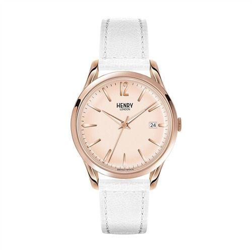 Henry London Pimlico Damenuhr weiß rosé HL-39-S-0112 http://www.thejewellershop.com/ #henrylondon #hl #london #damenuhr #weiß #rosé #watch #uhr #uhren #schmuck #jewelry #white #woman