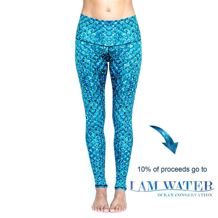 Spirit girl - Full length workout leggings made from recycled plastic bottles (PET) and woven with spandex to create ideal moisture wicking, quick drying and 4 way stretch fabric.