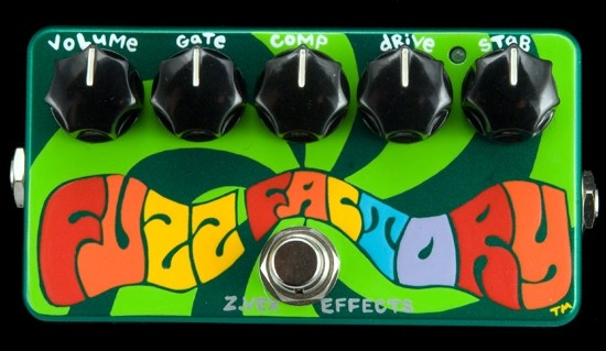 The fuzz factory by Z-VEX EFFECTS! An amazing pedal and crazy one too! It's Hand painted too!