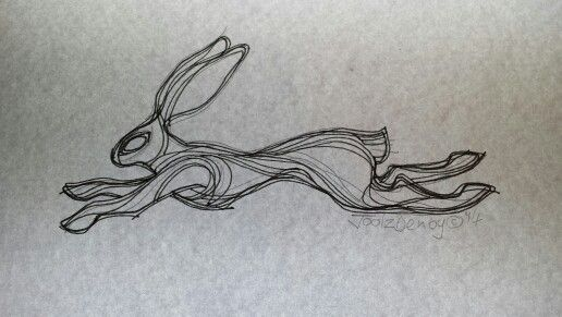 Hare tattoo design by Joolz Denby (c) 2014.