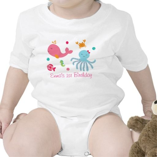 Pink Under The Sea Baby Bodysuit Baby Bodysuit Bodysuit