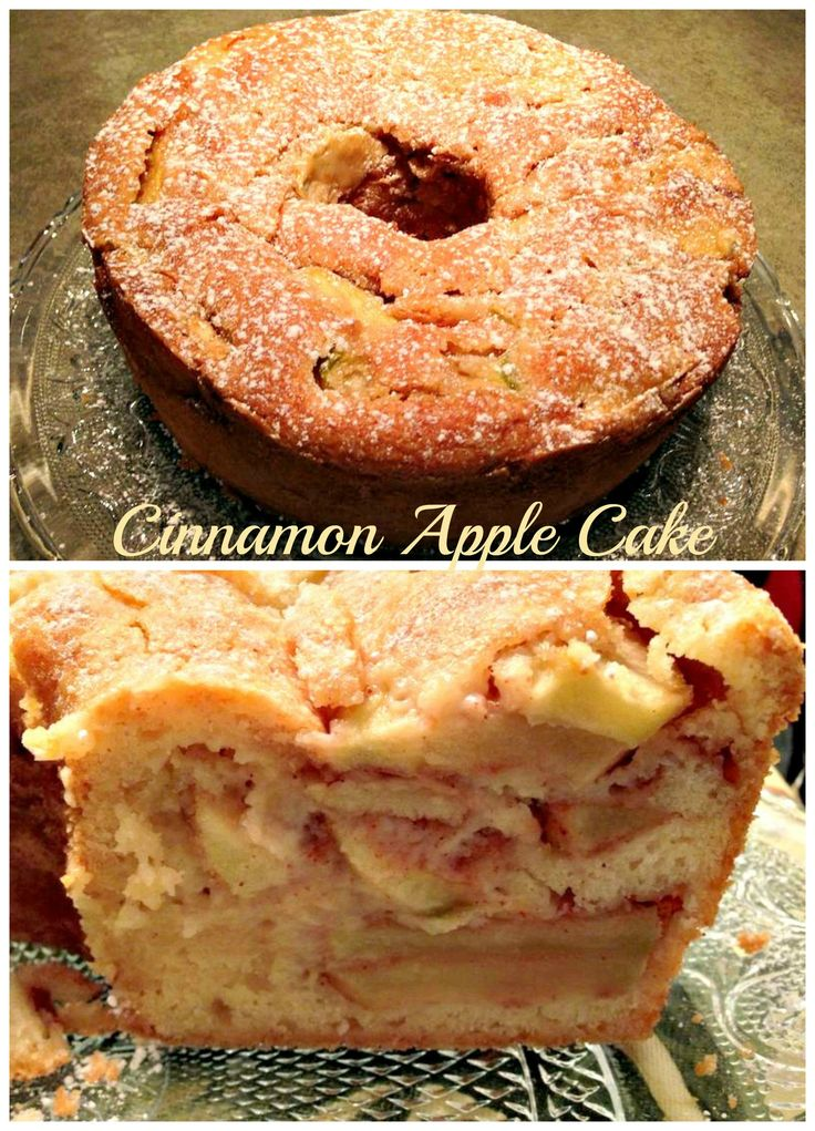 #Cinnamon #AppleCake! #Delicious with a side of ice cream of a tall glass of cold milk! #desserts #dessertrecipes #yummy #delicious #food #sweet