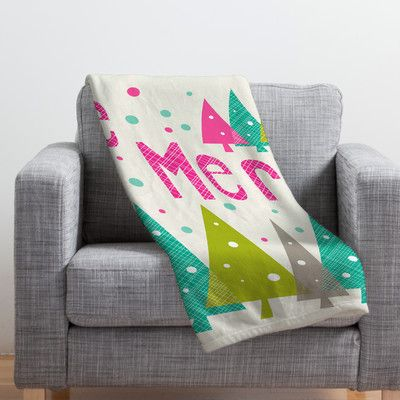 "Mercury Row Ahlstrom Fleece Polyester Throw Blanket Size: 60"" L x 50"" W"