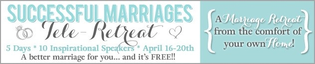 Successful Marriages Tele-Retreat -- AMAZING marriage advice/resources brought to you for Free.  Click on picture to register :)  (via thedatingdivas.com)