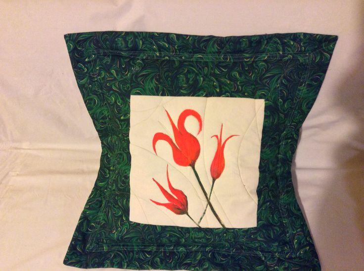 cushion fabric painting