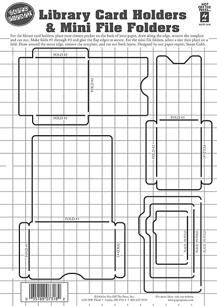 dinglefoot s scrapbooking library card holders mini file folders template 4 99 http www