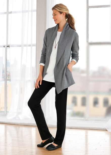 Cotton and cashmere cardigan at J. Jill