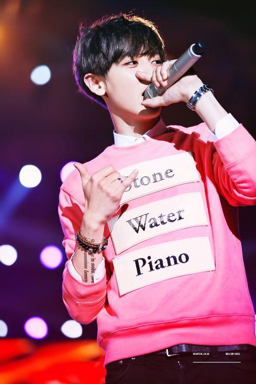 EXO member Chanyeol at Music Bank Hanoi