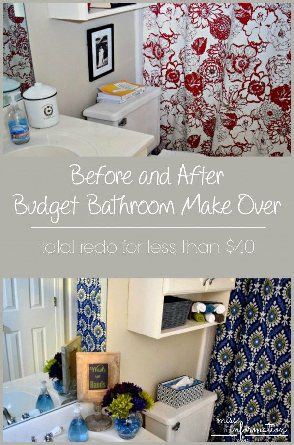 Bathroom Makeovers For Less top 25+ best budget bathroom makeovers ideas on pinterest | budget