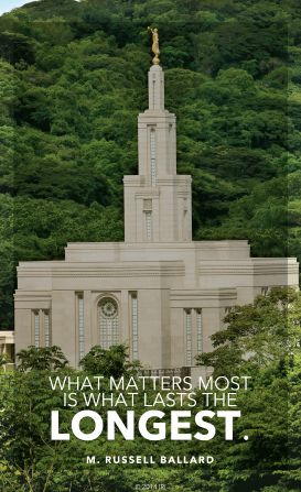 Like this lds temple, we must focus on things that will be forever, such as our spiritual growth, or families. Investing in these things will bring joy and happiness.