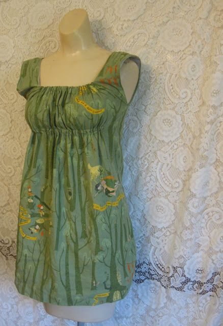 Verdant Bents: Make your own easy top -- Could I modify this into a dress? Either extend with princess seams or add separate skirt?