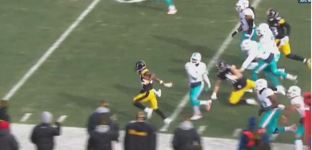 Antonio Brown Scores First Career Postseason Touchdown By Torching The Miami Dolphins Defense For 50-Yard TD - http://viralfeels.com/antonio-brown-scores-first-career-postseason-touchdown-by-torching-the-miami-dolphins-defense-for-50-yard-td/
