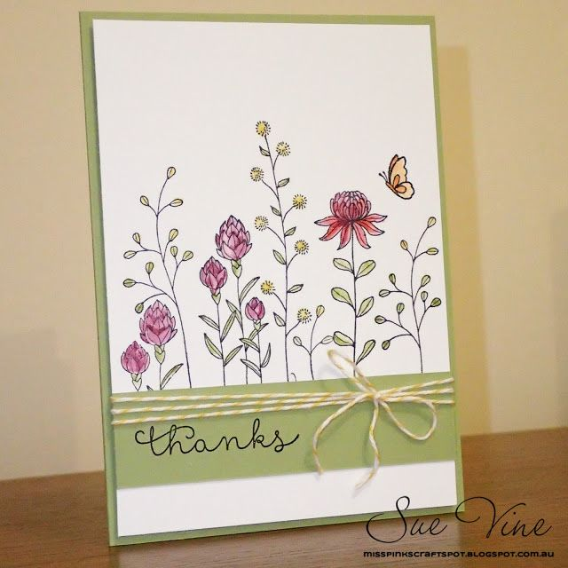Sue Vine | Stampin' Up! | MissPinksCraftSpot | 2016 Sale-a-Bration Catalogue | Flowering Fields | Handmade Card