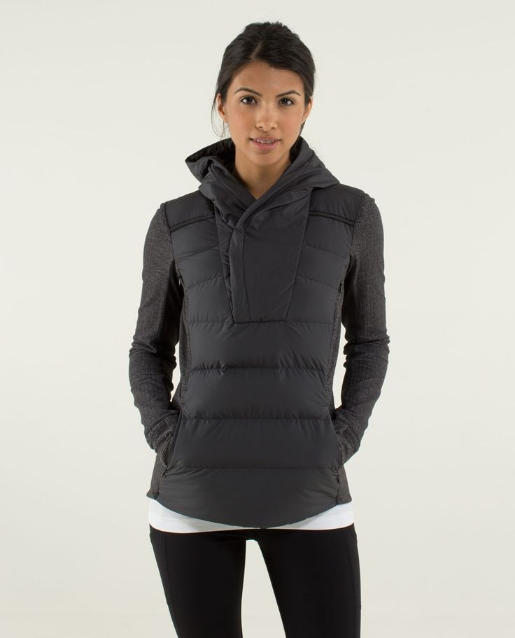 Fluff Off Pullover - Best. Idea. Ever. Leave it up to lululemon to think of this...a cross between a down jacket and a pullover. GENIUS!