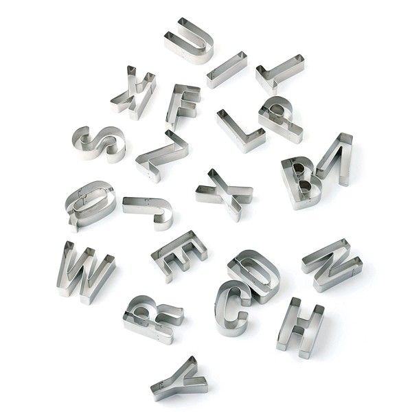 alphabet cookie cutters in stainless steel from muji