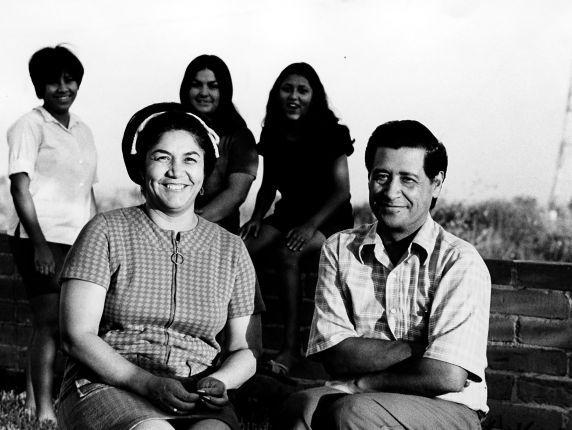Cesar, Helen Chavez and family, 1969
