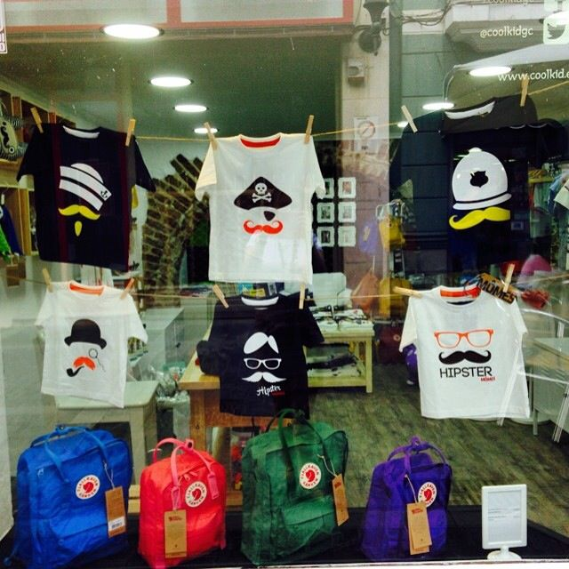 This is the window display @coolkidgc in #thecanaryislands in #Spain  We are so proud and thankful ❤️❤️ Gracia @coolkidgc !!We love it! #cool#cute#organic#tees#tshirts#boys#boysstyle#kids#kidsstyle#fashion#australian#designer#sydney#french#hipster#kidsfashion#unique#handcrafted#funky#momes#moustache#streetfashion#organicbaby#quirky#windowdisplay#boutique#stockis#wholesale