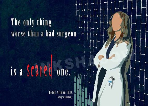 Greys Anatomy Teddy Altman quote  minimal poster by Inkshadow, $16.00
