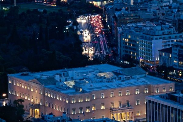 The Greek Parliament from an unusual point