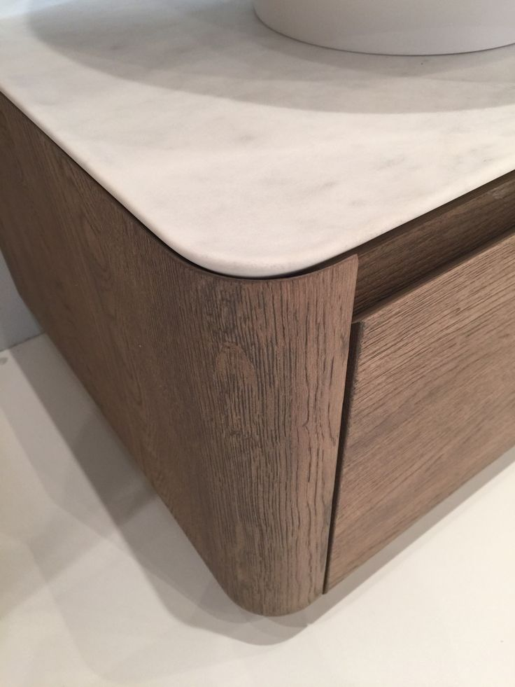Exquisite Detailing Finger Pull - Drawer - Storage - Vanity - Stone and timber veneer - shadow line