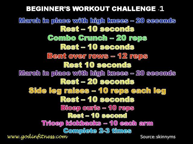 Beginner Workout Challenge 1