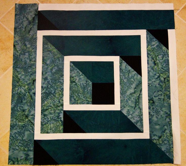 3D block - I'd make this a laptop quilt.