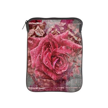 Pink Rose iPad Sleeve by AngelEowyn. $38.50