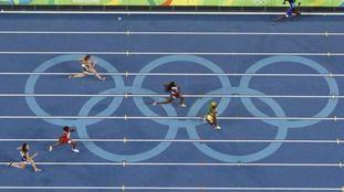 Team GB - Asha Philip, Desiree Henry, Dina Asher-Smith and Darryl Neita won bronze in Women's 4x100m relay