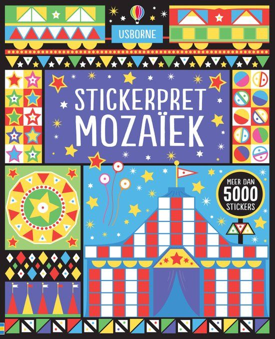 Usborne stickerboeken stickerpret mozaiek