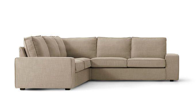 This beige KIVIK corner sofa seats four or more