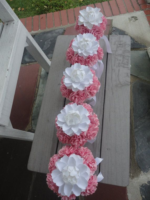 Paper Peony Centerpieces Paper Carnation Wedding by PoshStudios