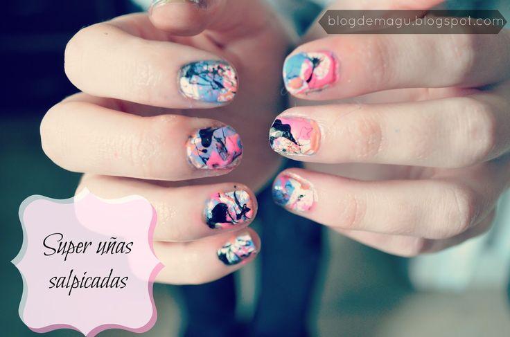Blog de Magu ♚: ♔ Nail Art - Uñas salpicadas / manimonday ❀