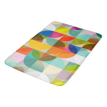 multicolored merrily colored abstract sample bathroom mat - sample design diy personalize idea