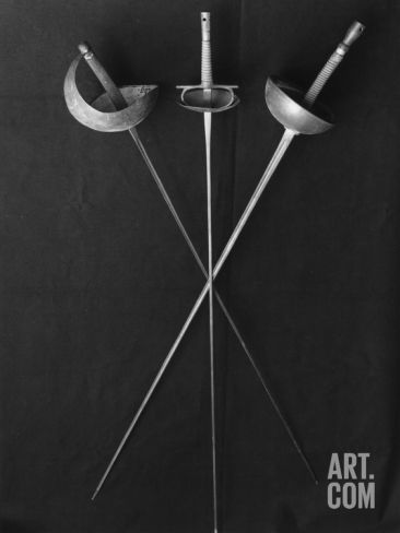 Fencing Weapons: Epee, Foil, Sabre Photographic Print at Art.co.uk