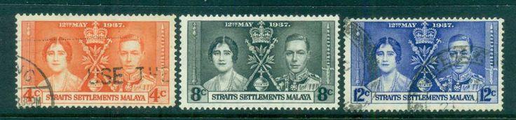 Straits Settlements 1937 Coronation FU lot82526