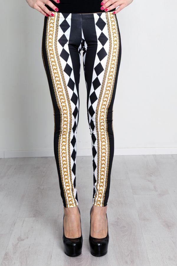 #ALFAOMEGABRAND #Leggings #black&white #Righe #fashion #look #SS14