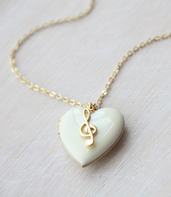 Love all accessories related to music note??? It made with double-side enamelled raw brass heart locket 23mm x23mm ~slight smaller then 1 (it is a real locket so it can be opened), teamed with a gold plated treble clef (music note). It comes with gold plated chain. Measurement : 24 + 2 extension chain . . . . . . . . . . . . . . . . . . . . . . . . . . . . . . . . . . . . . . . . . . . . . . . . . . . . . . . . . . . . . . . . . . . . . . . . . . . . . . . . . . Follow the link to see my...