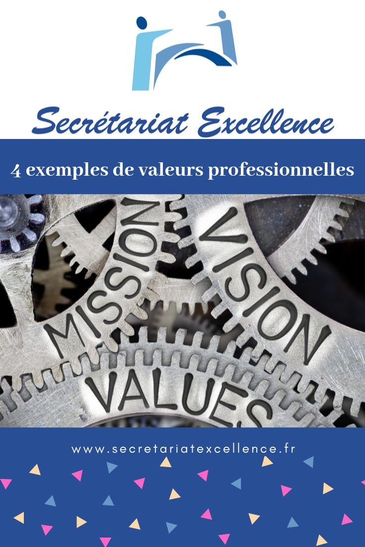 4 exemples de valeurs professionnelles | Valeurs ...