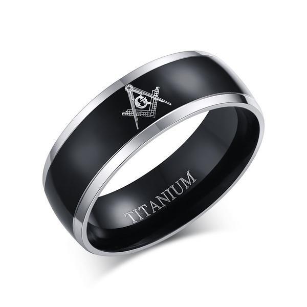 Titanium Masonic Rings